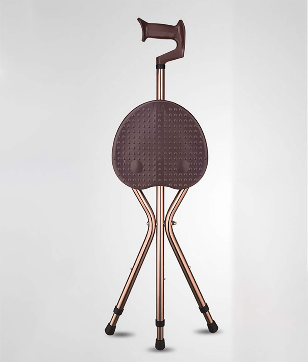 ファッションなデザイン YGUOZ brown 杖椅子 杖 リハビリ,brown 折りたたみ B07P78M514 高齢者のために、ステッキ椅子 携帯型、アルミ ステッキ 軽量、歩行補助 リハビリ,brown brown B07P78M514, よかろもんTOWN:a174fcbf --- a0267596.xsph.ru