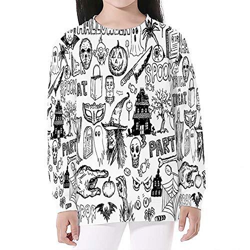 Vintage Halloween,Crewneck Sweatshirts Long Sleeve Sweatshirt Pullover Top,S