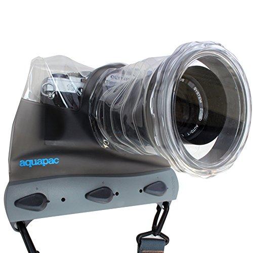 AQUAPAC Uni Wasserdichte-Tauchbare Tasche für System Kamera, Grau-Transparent, 12 x 15.5 x 16 cm