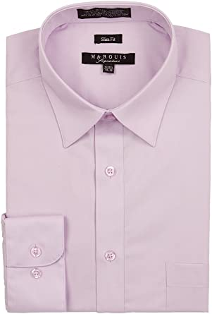 Marquis Slim Fit camisa lila (18/18.5 34 – 35): Amazon.es ...