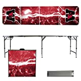 NCAA Wesleyan University Cardinals Lightning Version Folding Tailgate Table, 8'