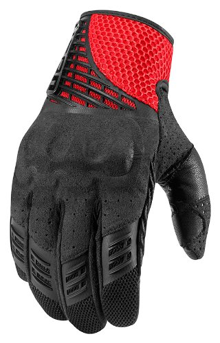 Icon Sanctuary Leather Gloves Red XL 3301-2102