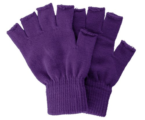 Fingerless Gauntlet - Winter Fingerless Gloves without Flap Cover Mitten Gloves, 4711_Purple