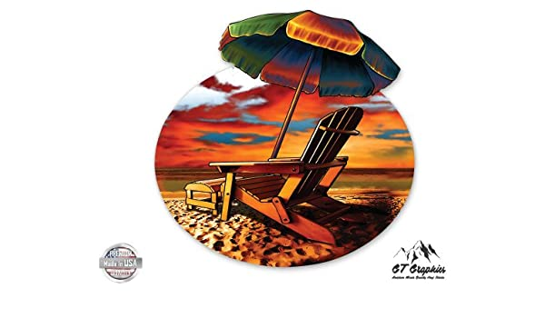 GT Graphics Tropical Beach Vacation for Truck Car Cornhole Board Large Size Vinyl Sticker Decal