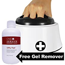 Lastest removal technology- Nail Polish steamer Removal Machine+ CND Offly fast gel remover 8.5oz, UV Gel, Shellac, Nail Steamer Removal Machine for Salon and Home Use