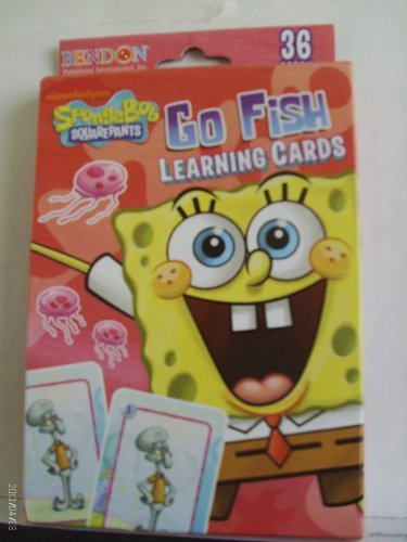 SpongeBob Squarepants Go Fish Learning Cards (Spongebob Matching Game)