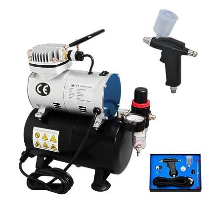 Generic acción Individual Agujas de 2 Kit de compresor de aerógrafo pistola para manguera de jardín