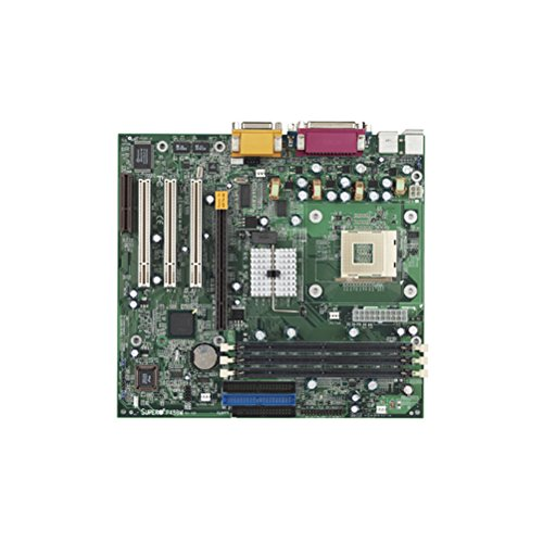 Supermicro P4SBM Socket 478 motherboard, Super P4SBM. Intel 845 chipset. 400 MHz FSB. 3GB of PC133 SDRAM DIMMS. 3 x PCI, 1 x AGP4x, 1 x CNR. 2 x Ultra DMA/100/66/33. Onboard Audio and 2 x serial port