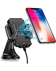 CHOETECH Fast Wireless Car Charger Car Phone Holder
