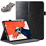 """Case for iPad Pro 11 inch 2018 [Support Apple Pencil Charging], CreaDream Premium Leather Slim Multiple Viewing Angles Folio Cover with Card Slots and Cash Pocket, Auto Sleep/Wake for iPad Pro 11"""""""