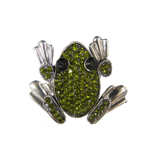 Homemade Princess And The Frog Costumes (Twinkle Crystal Metal Ring - Frog (Green))