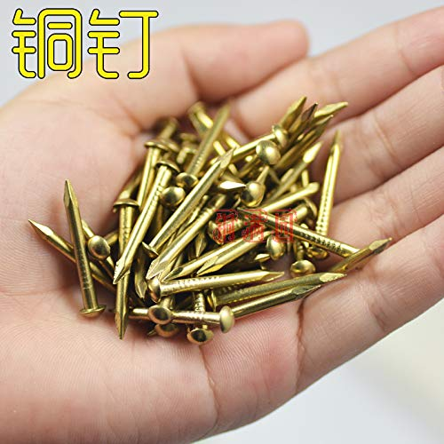 Pincushions - Pin, Copper Nail Round Tongding Antique Drum Furniture Hinge Brass Nails Length 21mm Small Nail Head Fittings Wholesale by Laliva