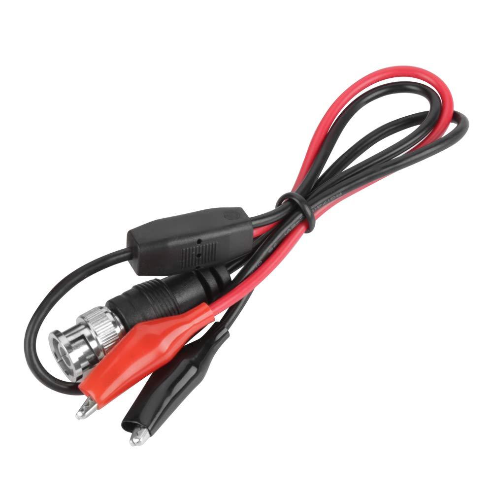2pcs cable de la sonda de prueba del osciloscopio BNC macho Plug Q9 al cable coaxial del clip de cocodrilo doble 0.5 m: Amazon.es: Industria, empresas y ciencia