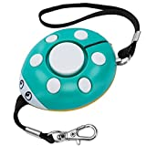 GT ROAD Emergency Personal Alarm, 130dB Super Loud Self Defense Siren Back Up Whistle and Bag Decoration, Ideal Gift for Kids, Girls and Elderly Safety, Batteries Included (Green/White)