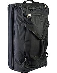 U.S. Polo Assn. Mens 30in Deluxe Rolling Duffle Bag, Split Level Storage, Black