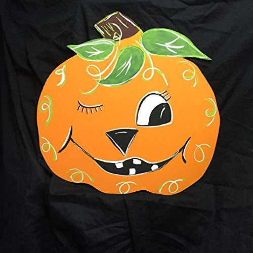 weewen Halloween Yard Art Fall Pumpkin Out Door Halloween Party Decorations Wood Plaque Cabin Wall Art Decoration Sign ()
