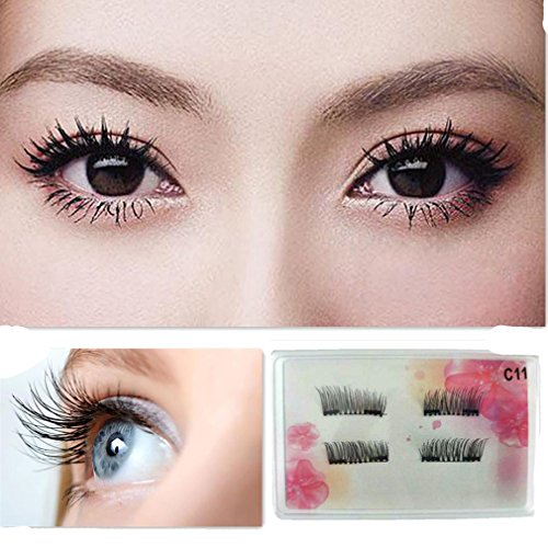 3D Magnetic Eye Lashes,Vanvler Thick 4pcs Reusable False Magnet Eyelashes Extension
