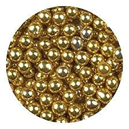 Oasis Supply Dragees Gold Sugar Cake Cupcake Cookie Sprinkles, 4mm