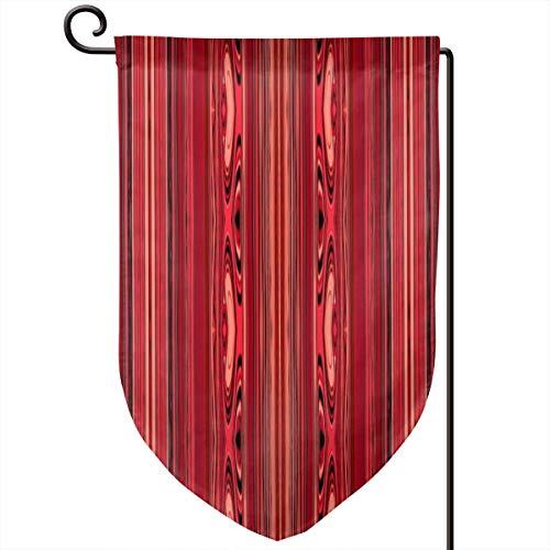 (Room101 Garden Flag Summer,HOT Molten Glass Volcano Sherry Unusual Stripes_13396,12.5 x 18 Inch)