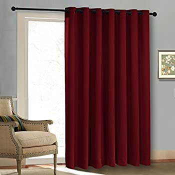 Blackout Patio Door Curtain Panel   Christmas Curtain Xmas Home Decoration  Grommet Thermal Insulated Sliding Door