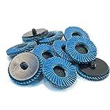 Ginode 10Pack 80 Grit Sanding Flap Discs, Zirconia Alumina Abrasive Grinding Wheel, Grinding Sanding Sandpaper Wheels丨Pack of 10 (Grit 80)