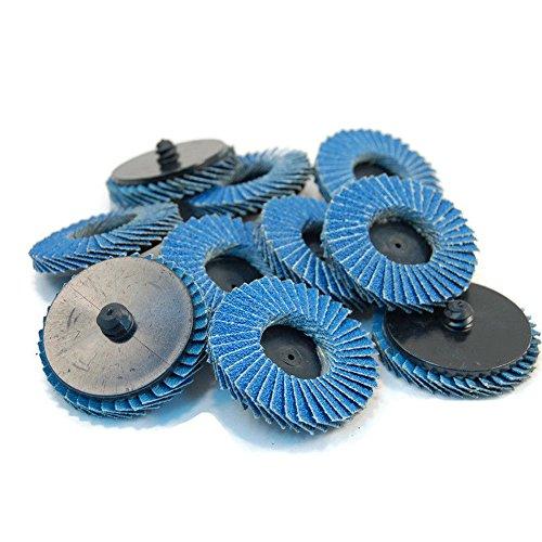 Ginode 10Pack 80 Grit Sanding Flap Discs, Zirconia Alumina Abrasive Grinding Wheel, Grinding Sanding Sandpaper Wheels丨Pack of 10 (Grit 80) by Ginode