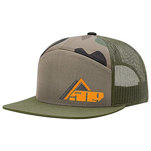 - 509 Accesss 7 Panel Flat Brim Mesh Back Adjustable Snowmobile Style Trucker Hat - Hunter Camo