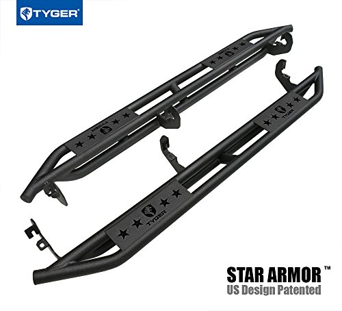 Bed Nerf Steps - Tyger Auto TG-AM2C20178 Textured Black Running Boards Side Step Rails Nerf Bars Compatible With 2015-2019 Chevy Colorado/GMC Canyon Crew Cab