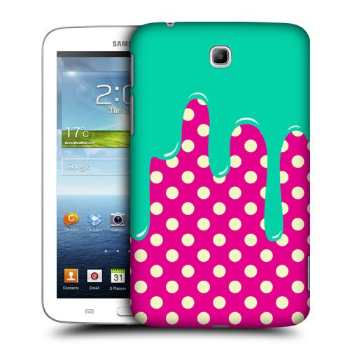 Head Case Designs Dotted Pattern Meltdown Protective Snap-on Hard Back Case Cover for Samsung Galaxy Tab 3 7.0 P3200 T210 WiFi
