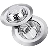 Kitchen Sink Filter Anpro 2 Pack Stainless Steel 4.5-Inch Diameter Kitchen Sink Strainer Drain Filter
