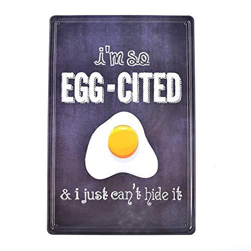 卵焼き 金属板ブリキ看板注意サイン情報サイン金属安全サイン警告サイン表示パネル