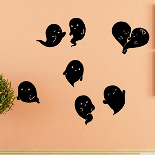 ✿Mose✿ Hot Sale !!! Halloween Household Room Wall Sticker,Devil Decor Decal Removable (C, black) - Diy Devil Costume Ideas