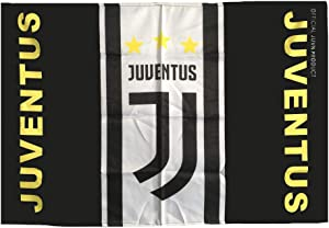 Louishop World Football Club Soccer Team Flag FC Banner for Wall Patio Garden Lawn Outdoor (37.5x25.6inch, Juventus)