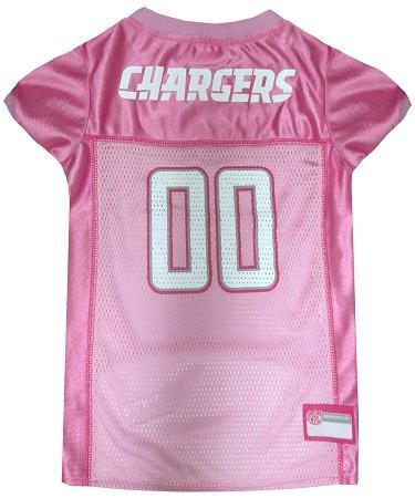 Pets First NFL San Diego Chargers Jersey, Small, Pink