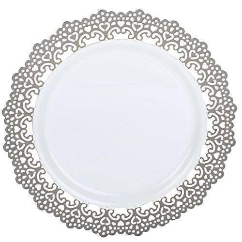 Premium Decorative Plastic Dinnerware Plates - 6