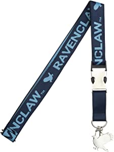 Ravenclaw Jacquard Lanyard w/ID Holder and Charm Keychain
