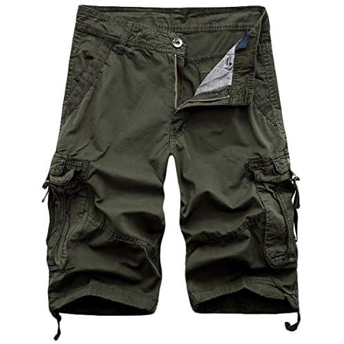 0748fad7ad chic Papijam Mens Twill Baggy Rugged Soft Multi Pocket Summer Cargo Short