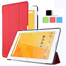 Acer Iconia One 10 B3-A20 case, KuGi ®High quality ultra-thin Smart Cover Case Only fit for Acer Iconia One 10 B3-A20 Tablet. (Red)