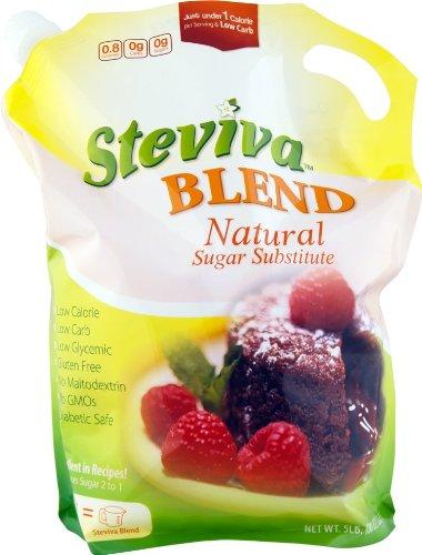 Steviva Blend - Erythritol, Stevia Blend NonGMO Low Carb Sweetener (5 lb bag) by Steviva