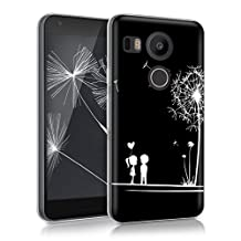 kwmobile Crystal Case Cover for LG Google Nexus 5X TPU silicone IMD design protective case - soft mobile cover Design dandelion love