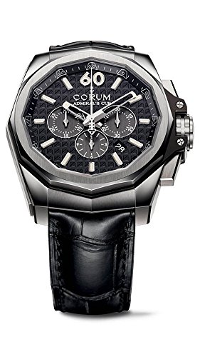 Cup Admirals Chronograph - Corum Admiral's Cup Automatic Chronograph Titanium Mens Strap Watch 132.201.04/0F01 AN10