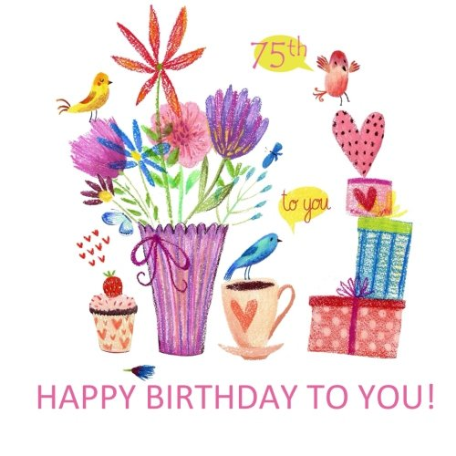 Happy Birthday To You! 75th: Adult Coloring Birthday Book; 75th Birthday Gifts for Women in al; 75th Birthday Gifts for Her in al; 75th Birthday Gifts ... in al; 75th Birthday Decorations in al