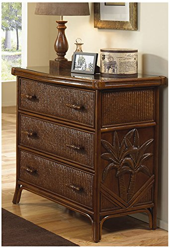 Rattan 3 Drawer Chest - Hospitality Rattan 401-5310-TCA Cancun Palm Three Drawer Chest