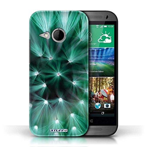 Etui / Coque pour HTC One/1 Mini 2 / Turquoise conception / Collection de Couleur/Lumière Fleur