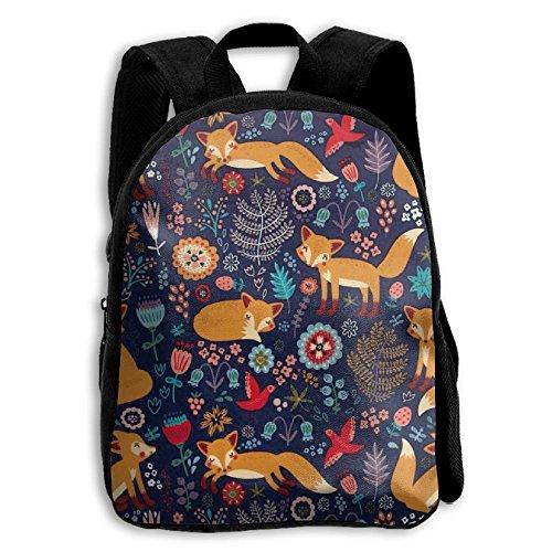Gardenia Foxes Kid Boys Girls Toddler Pre School Backpack Bags Lightweight ()