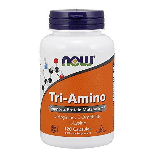 Now Supplements, Tri-Amino with L-Arginine, L-Ornithine, L-Lysine, 120 Capsules (Best Arginine Supplement Reviews)