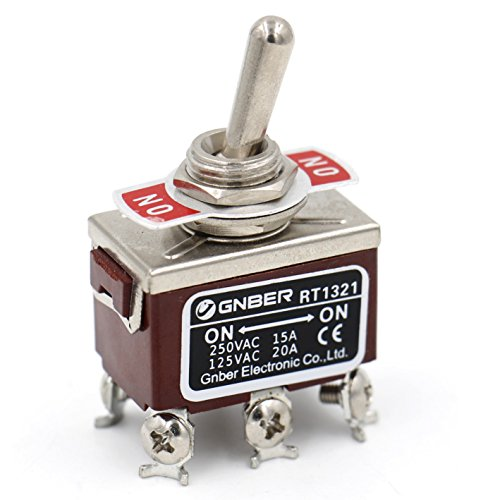 Baomain Toggle switch DPDT ON/ON 2 position 250VAC 15A 125VAC 20A 1/2