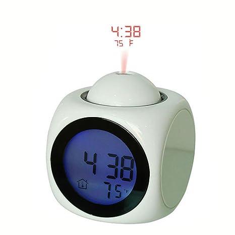 CursOnline® Despertador Parlante Lingua Italiana con proyector a techo Dell Ora y temperatura Suoneria