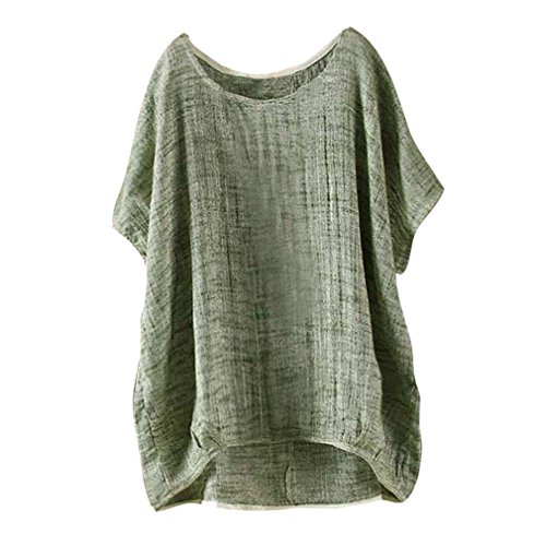 Top Souris en Lin lache Juleya Manches Section Shirt S Chemisier Vert Casual Coton Chemise Casual Courtes T Womens 5XL Mince Chauve Pull 7Cw0qg