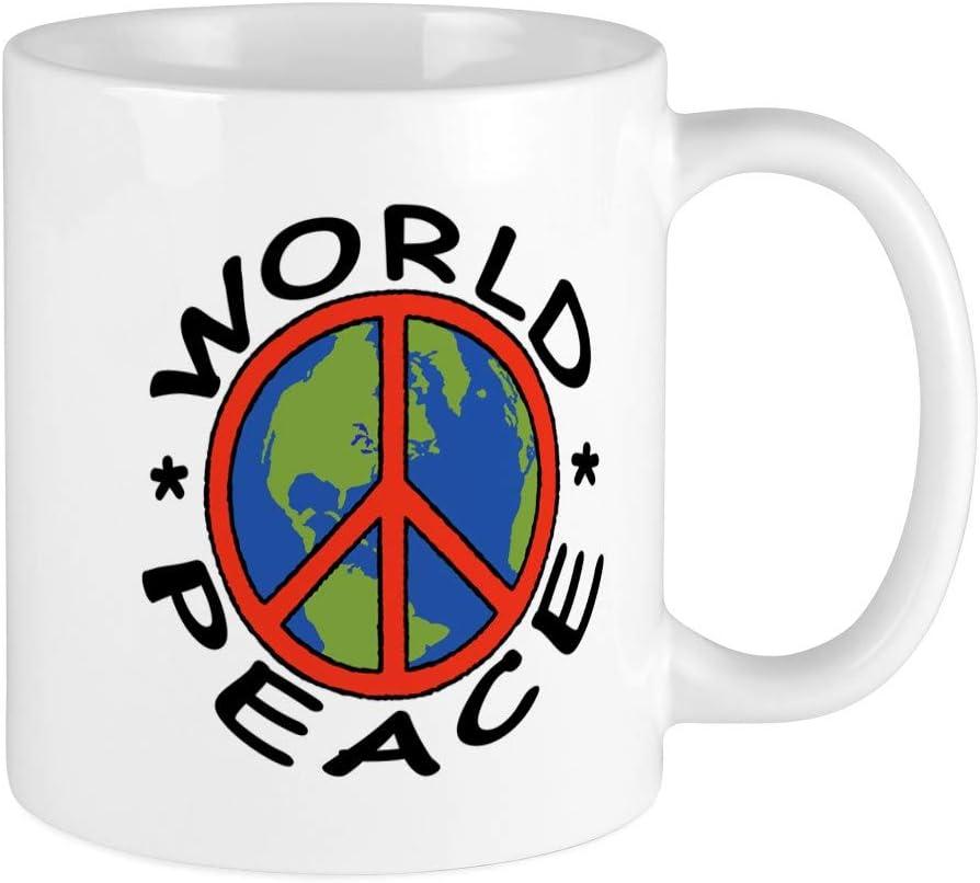 Amazon Com Cafepress Peace 11oz Coffee Mug Microwave And Dishwasher Safe World Peace White Kitchen Dining